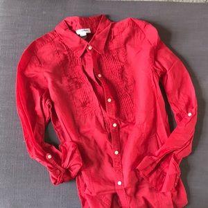 Calvin Klein Red Shirt - Size M